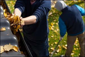 Gutter Cleaning in the Fall